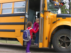 Fall Routine School Bus