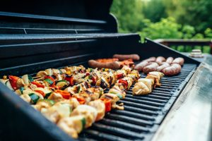 food on barbeque