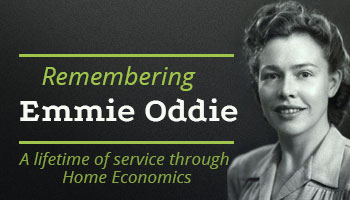 Remembering Emmie Oddie, A lifetime service of Home Economics
