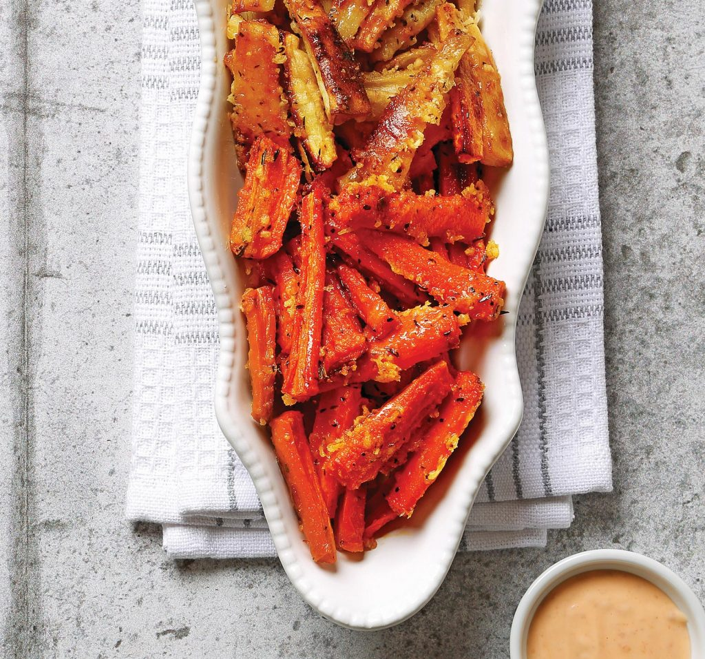 Roasted Parsnip and Carrot Sticks